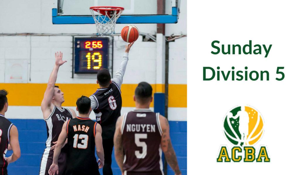 Sunday Division 5